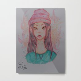 asian girl Metal Print