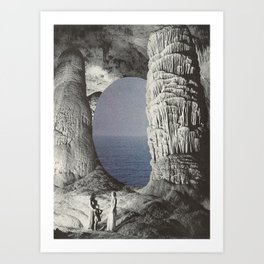 silence and sea Art Print