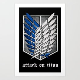 shield of shingeki  Art Print