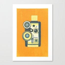 Blue Vintage Camera Canvas Print