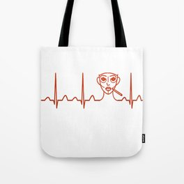 Plastic Surgeon Heartbeat Tote Bag