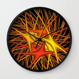 chaotic colors -4- Wall Clock