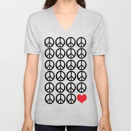 PEACE PEACE ANDLOVE Unisex V-Neck