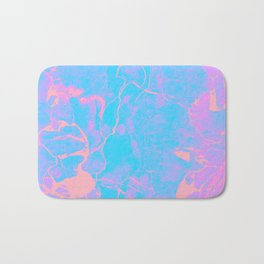 Pink and Blue Marble Bath Mat