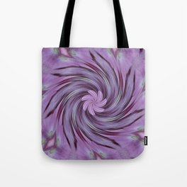 Abstracted Twirl Pink Hydrangea Flowers Tote Bag