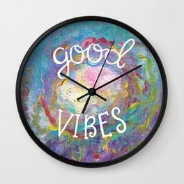 Good Vibes Galaxy Wall Clock