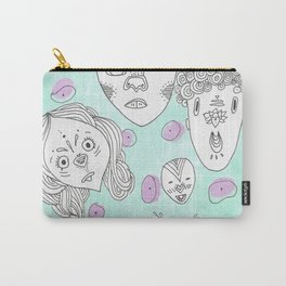 Unnamed Faces Carry-All Pouch