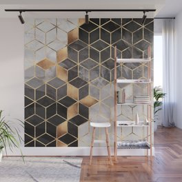 Smoky Cubes Wall Mural
