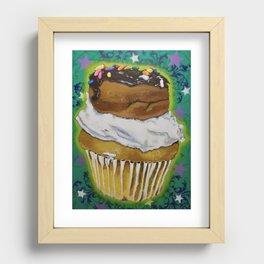 DonutCupcake Recessed Framed Print