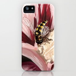 Wasp on flower 7 iPhone Case