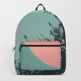 Pine tree and birds Backpack