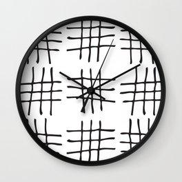 Hash Marks Wall Clock