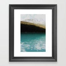 Vintage Moraine lake Framed Art Print