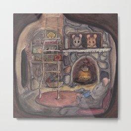 Mouse House Metal Print