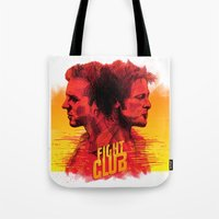 fight Tote Bags featuring fight  by İsmail Kocabas