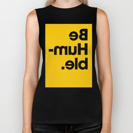 Be Humble - Yellow Biker Tank