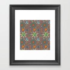Festive Snowflake Party Framed Art Print