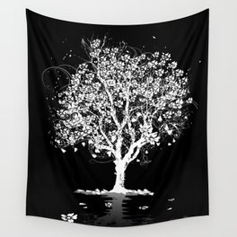 Tree with flowers in spring Wall Tapestry