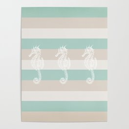 3 seahorses Poster
