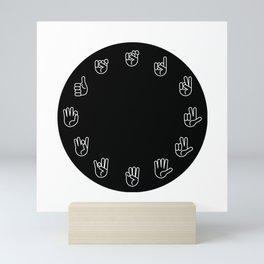 Sign Language Cloack Mini Art Print