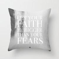 faith Throw Pillows featuring Faith by eARTh