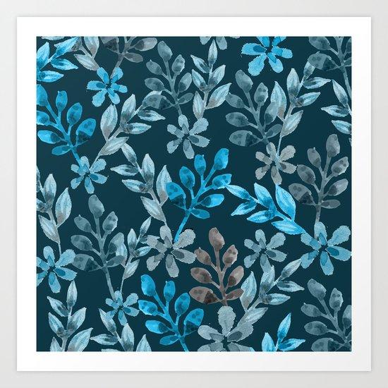 Leaf pattern III Art Print