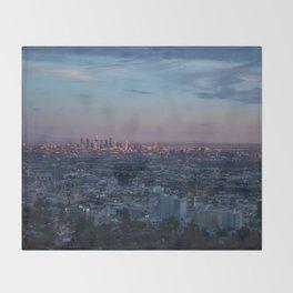 LA Skyline at Sunset Throw Blanket
