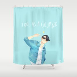 Cool as a cucumber Shower Curtain
