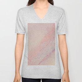 Delicate Pink Marble Unisex V-Neck