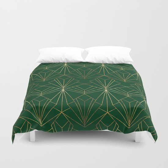 Art Deco in Gold & Green by wellingtonboot