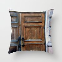 doors Throw Pillows featuring Doors by Jessica Jimerson