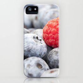 ripe blueberries, close-up iPhone Case
