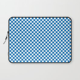 Small Checker Print - Blue and White Laptop Sleeve