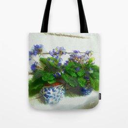 """Soothing Violets"" Tote Bag"