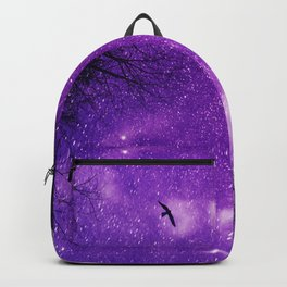 Nightsky with Full Moon in Ultra Violet Backpack