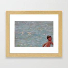 Chasing Waves Framed Art Print