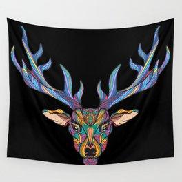Deer Park- MI on Black Wall Tapestry