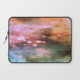 Colorful Pink Sparkle Carina Nebula Abstract Laptop Sleeve