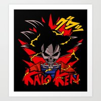 dbz Art Prints featuring Goku Skull DBZ by offbeatzombie