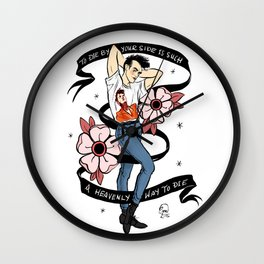 Heavenly Way to Die Pin Up Wall Clock