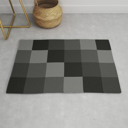 Four Shades of Black Square Rug