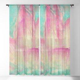Lotus blossom Sheer Curtain