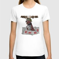 pitbull T-shirts featuring Pitbull Warfare by dr.Mador
