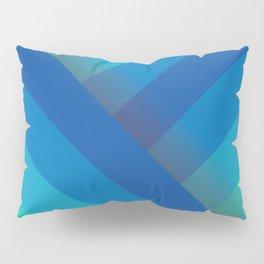 Stripes (blue/aqua) Pillow Sham