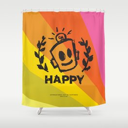 International Day of HAPPINESS Shower Curtain