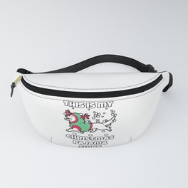 This is my Christmas Pajama Fanny Pack