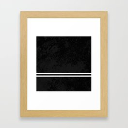 Infinite Road - Black And White Abstract Framed Art Print
