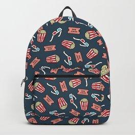 Movie Pattern in Dark Blue Backpack