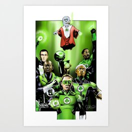 The Green Celtics Corps Art Print
