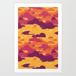 Jet Set Sunset Art Print